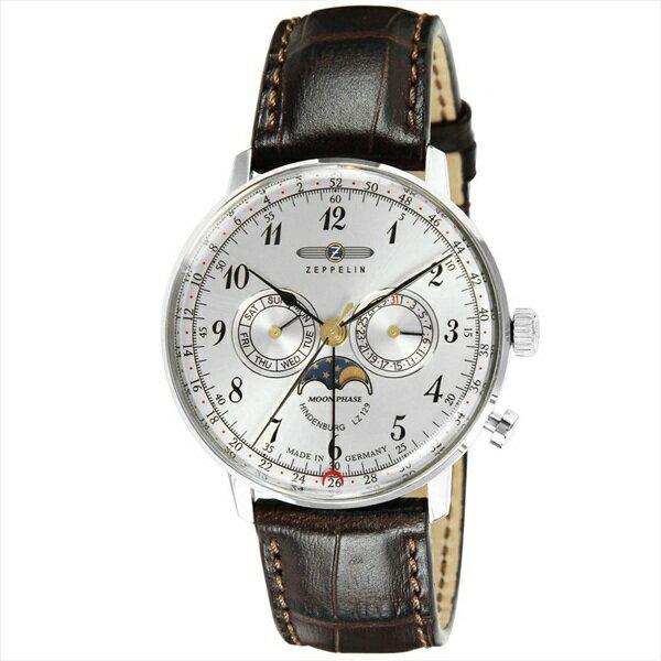 ツェッペリン 時計 メンズ 腕時計 ヒンデンブルク シルバーケース ブラック レザー 7036-1 ビジネス 男性 ブランド 【仕事用】 誕生日 お祝い クリスマスプレゼント ギフト お洒落