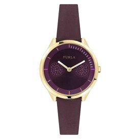 無料特典付き! フルラ レディース 腕時計 メトロポリス ゴールドケース 紫色 パープルレザー R4251102516 ビジネス 女性 ブランド 時計 誕生日 お祝い プレゼント ギフト