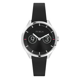 フルラ 時計 レディース 腕時計 METROPOLIS メトロポリス シルバー ブラック レザー R4251102543
