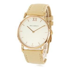 【ブラックフライデー】 ポールヒューイット レディース 腕時計 セラーライン 35mm ホワイト ローズゴールド ベージュレザー PH-SA-R-Sm-W-22S ビジネス 女性 ブランド 誕生日 お祝い クリスマスプレゼント ギフト
