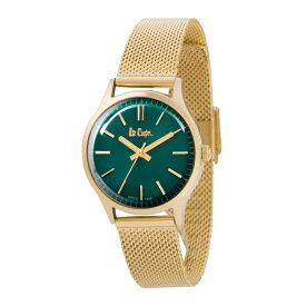 Lee Cooper リークーパー ロンドン発 ジーンズブランド レディース 腕時計 グリーン イエローゴールド メッシュブレス LC6301.270 ビジネス 女性 ブランド プレゼント 誕生日 お祝い プレゼント ギフト お洒落