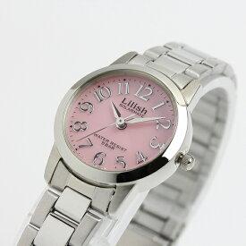 無料特典付き! リリッシュ 時計 レディース 腕時計 シチズン製 ソーラー ピンク文字盤 シルバー ステンレス H997-901 ビジネス 女性 ブランド プレゼント 誕生日 お祝い プレゼント ギフト お洒落