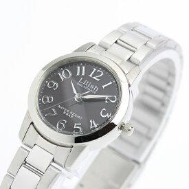 無料特典付き! リリッシュ 時計 レディース 腕時計 シチズン製 ソーラー ブラック文字盤 シルバー ステンレス H997-902 誕生日 お祝い ギフト クリスマス プレゼント