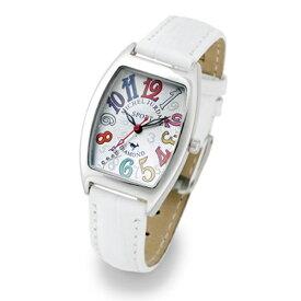 【無料特典付き!】ミッシェルジョルダン スポーツ 時計 レディース 腕時計 シルバーケース 白 ホワイト レザー ダイヤモンド カラフル トノー型 革 SL-1000-10 ビジネス 女性 ブランド 時計 誕生日 お祝い プレゼント ギフト