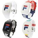 【選べる4色!】フィラ 腕時計 FILASTYLE メンズ レディース ペアもOK デジタル シリコンベルト 白 黒 トリコロール 3…