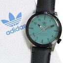 Adidas アディダス 腕時計 メンズ レディース 男女兼用 サイファー モダン グリーン ブラックレザー ペアにもおすすめ…