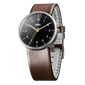 BRAUN ブラウン 腕時計 メンズ シンプル アナログ 黒い文字盤 ブラウンレザー 革ベルト 男性用 時計 ギフト BN0021BKBRG ビジネス 男性 ブランド 時計 誕生日 お祝い プレゼント ギフト
