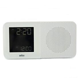 BRAUN ブラウン ラジオクロック 置き時計 目覚まし時計 電波機能 アラーム デジタル ホワイト 白 仕事場 オフィス BNC010WH-RC 並行輸入品 インテリア 雑貨 ビジネス 時計 誕生日 お祝い ギフト
