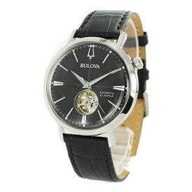 BULOVA ブローバ メンズ 腕時計 Classic クラシック オートマチック ブラック レザー 自動巻き 機械式 96A201 ビジネス 男性 誕生日 お祝い ギフト