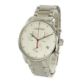 【Rakuten Fashion THE SALE 10%OFF】カルバンクライン 時計 メンズ 腕時計 CITY シティ クロノグラフ 43mm シルバー ステンレス K2G271Z6 時計