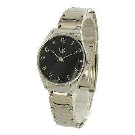 カルバンクライン 時計 レディース 腕時計 Classic クラシック 33mm ブラック文字盤 シルバー ステンレス K4D2214X ビジネス 女性 ブランド プレゼント 誕生日 お祝い プレゼント ギフト