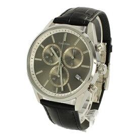 カルバンクライン 時計 メンズ 腕時計 FORMALITY クロノグラフ 43mm ダークグレー文字盤 ブラックレザー K4M271C3 ビジネス 男性 ブランド 時計 誕生日 お祝い プレゼント ギフト お洒落
