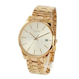 カルバンクライン 時計 メンズ 腕時計 タイム シルバー文字盤 ローズゴールド ステンレス K4N21646 ビジネス 男性 時計 誕生日 お祝い ギフト クリスマス プレゼント