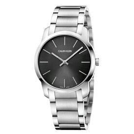 Calvin Klein カルバンクライン スイス製 腕時計 メンズ レディース シティ 37ミリ 黒 シルバー K2G22143 就活 面接 ビジネス 男女 時計 誕生日 入学 入社 お祝い 結婚式