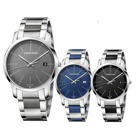 【選べる3モデル】CALVIN KLEIN カルバンクライン CK 時計 メンズ スイス製 腕時計 City シティ シルバー グレー ステンレス シリコン K2G2G1 ビジネス 男性 時計 誕生日 お祝い ギフト
