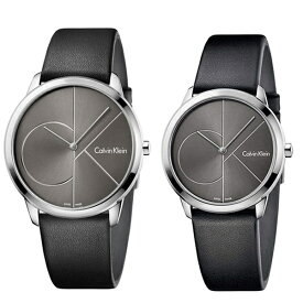 CALVIN KLEIN カルバンクライン CK 時計 メンズ レディース ペアウォッチ スイス製 腕時計 MINIMAL ミニマル 2針 40mm 35mm レザー K3M211C3K3M221C3 ビジネス 男女 ペアセット カップル 時計 誕生日 お祝い ギフト