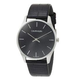 【Rakuten Fashion THE SALE 10%OFF】お一人様1点限り 仕事用 カルバンクライン CK 時計 メンズ 腕時計 シンプル シンプル ブラック 革 レザー ウォッチ K4D211C1