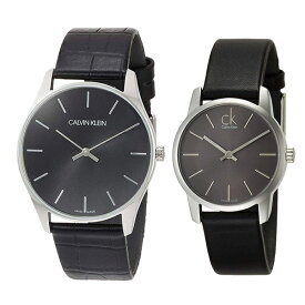 カルバンクライン CK スイス製 時計 ペアウォッチ 2本セット 腕時計 クラシック/シティ シルバー ブラック レザー K4D211C1K2G23107 ビジネス 男女 ペアセット カップル ブランド 時計 誕生日 お祝い プレゼント ギフト
