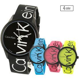 【選べる4色!】カルバンクライン 腕時計 メンズ レディース COLOR カラー ラバー カジュアルウォッチ 黒 水色 ピンク 黄色 ペアにもおすすめ K5E51TBZ ビジネス 男女 ブランド 時計 誕生日 お祝い プレゼント ギフト お洒落