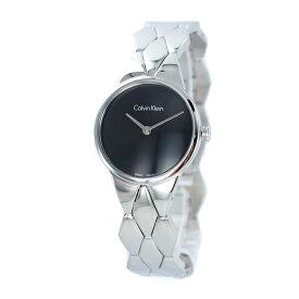 CALVIN KLEIN カルバンクライン 時計 レディース 腕時計 スネーク 黒い文字盤 シルバー ブレスレット ウォッチ 大人 おしゃれ K6E23141 ビジネス 女性 ブランド プレゼント 誕生日 お祝い プレゼント ギフト