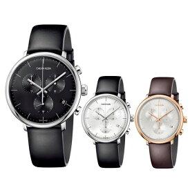 当店 メンズ 腕時計 ランキング 1位 選べる3モデル CALVIN KLEIN カルバンクライン スイス製 時計 メンズ 腕時計 High Noon ハイヌーン クロノグラフ レトロモダン レザー K8M271 ビジネス 男性 誕生日 お祝い ギフト
