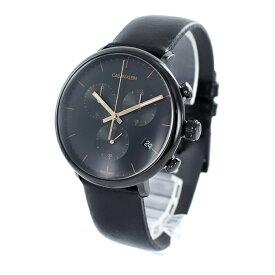 カルバンクライン 時計 メンズ 腕時計 ハイヌーン クロノグラフ かっこいい ブラック文字板 黒文字盤 黒い時計 K8M274CB ビジネス 男性 誕生日 お祝い ギフト