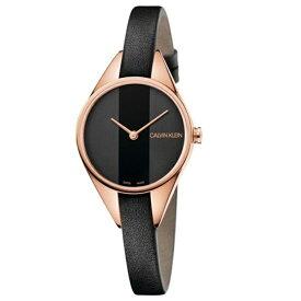 CALVIN KLEIN カルバンクライン CK 時計 レディース スイス製 腕時計 Rebel リベル 2針 2トーン ゴールドケース ブラック レザー K8P236C1 ビジネス パーティー フォーマル 女性 女友達 彼女が喜ぶ ブランド 誕生日 お祝い プレゼント ギフト