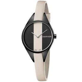 CALVIN KLEIN カルバンクライン CK 時計 レディース スイス製 腕時計 Rebel リベル 2針 2トーン ブラックケース ベージュ レザー K8P237X1 ビジネス パーティー フォーマル 女性 女友達 彼女が喜ぶ ブランド 誕生日 お祝い プレゼント ギフト