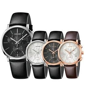 当店 メンズ 腕時計 ランキング 6位 選べる4モデル CALVIN KLEIN カルバンクライン スイス製 時計 メンズ 腕時計 Posh ポッシュ クロノグラフ レトロモダン レザー K8Q37