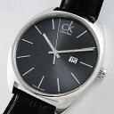 【数量限定】Calvin Klein カルバンクライン 腕時計 メンズ エクスチェンジ ブラックレザー 革ベルト K2F21107 ビジネ…