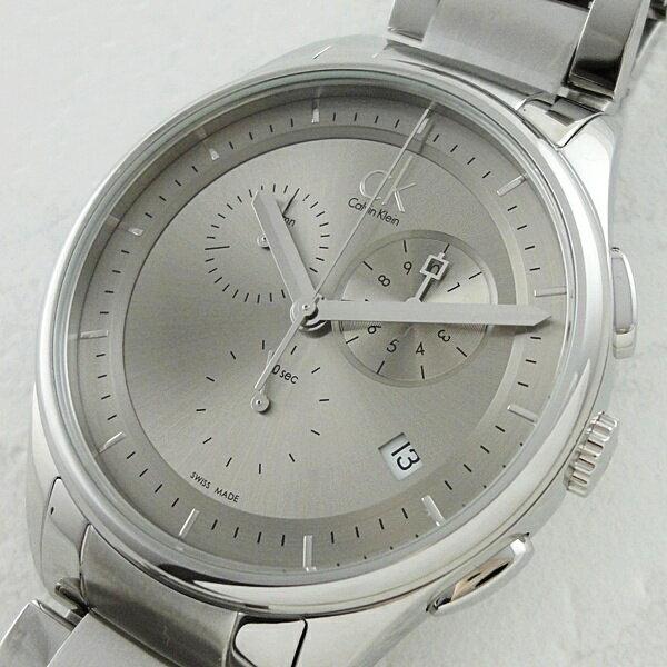 カルバンクライン時計 メンズ 腕時計 ベーシック クロノグラフ シルバー K2A27126 ビジネス 男性 ブランド 時計 誕生日 お祝い クリスマスプレゼント ギフト お洒落