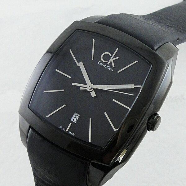 カルバンクライン 時計 メンズ 腕時計 リセス ブラックステンレス レザー K2K21402 ビジネス 男性 ブランド 時計 【バイヤーおすすめ】 誕生日 お祝い クリスマスプレゼント ギフト お洒落