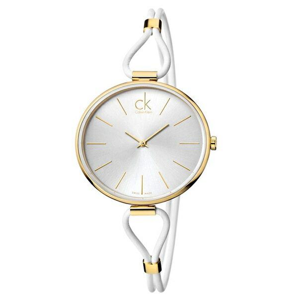 カルバンクライン 時計 レディース 腕時計 SELECTION セレクション ゴールド シルバー文字盤 ホワイトレザー K3V235L6 ビジネス 男性 ブランド 時計 誕生日 お祝い クリスマスプレゼント ギフト お洒落