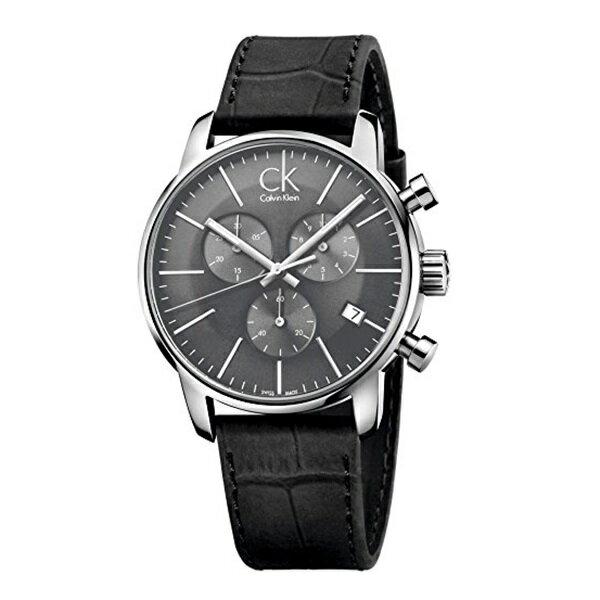 カルバンクライン 時計 メンズ 腕時計 CITY シティ クロノグラフ 43mm ダークグレー文字盤 ブラックレザー K2G271C3 ビジネス 男性 ブランド 時計 誕生日 お祝い クリスマスプレゼント ギフト お洒落