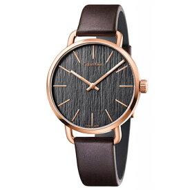 カルバンクライン 時計 メンズ 腕時計 EVEN イーブン 42mm ローズゴールドケース ブラウン レザー K7B216G3 ビジネス 男性 時計 誕生日 お祝い プレゼント ギフト ブラックフライデー