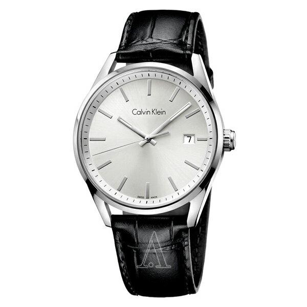 カルバンクライン 時計 メンズ 腕時計 Formality フォーマリティ 44mm シルバーケース ブラック レザー K4M211C6 ビジネス 男性 ブランド 時計 誕生日 お祝い クリスマスプレゼント ギフト お洒落