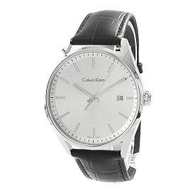 カルバンクライン 時計 メンズ 腕時計 Formality フォーマリティ 44mm シルバーケース ブラック レザー K4M211C6 ビジネス 男性 ブランド 時計 誕生日 お祝い プレゼント ギフト お洒落