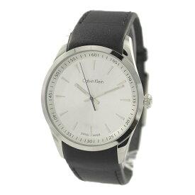 カルバンクライン 時計 メンズ 腕時計 ボールド シルバー文字盤 ブラックレザー K5A311C6 ビジネス 男性 ブランド 時計 誕生日 お祝い プレゼント ギフト