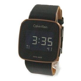 カルバンクライン 時計 メンズ レディース ユニセックス 腕時計 FUTURE フューチャー デジタル 39mm ブラック 黒 レザー K5C11YC1 ビジネス 男性 女性 ブランド 時計 誕生日 お祝い プレゼント ギフト お洒落