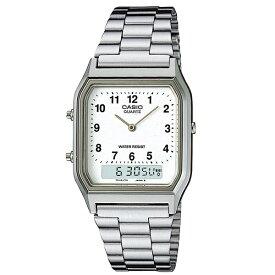 国内正規品 CASIO カシオ スタンダード 腕時計 チープカシオ チプカシ メンズ レディース ストップウォッチ カレンダー レトロ デジタル 軽い メタルバンド AQ-230A-7BMQYJF ビジネス インスタ 誕生日 お祝い ギフト