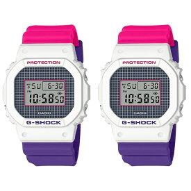 CASIO G-SHOCK Gショック ジーショック カシオ 時計 メンズ レディース 腕時計 デジタル 2本セット 90年代 90'S スクエアフェイス ブルー パープル ピンク ジオメトリック DW-5600THB-7DW-5600THB-7 ブランド 男女 カップル ペアセット 誕生日 お祝い プレゼント ギフト