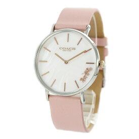 コーチ 時計 レディース 腕時計 PERRY ペリー かわいい ライトピンク シェル ピンクレザー 革 とけい 14503244 ビジネス 女性 ブランド 誕生日 お祝い プレゼント ギフト