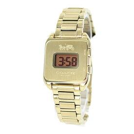 プレゼントにおすすめ!女性 女友達 ママ友 母親 誕生日 オシャレ ブランド 腕時計 コーチ Darcy Digital レディース レトロ デジタル ゴールド ブレスレット ウォッチ