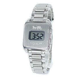 プレゼントにおすすめ!女性 女友達 ママ友 母親 誕生日 オシャレ ブランド 腕時計 コーチ Darcy Digital レディース レトロ デジタル シルバー ブレスレット ウォッチ