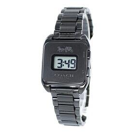 プレゼントにおすすめ!女性 女友達 ママ友 母親 誕生日 オシャレ ブランド 腕時計 コーチ Darcy Digital レディース レトロ デジタル ブラック ブレスレット ウォッチ