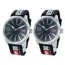 DIESEL ディーゼル 腕時計 ペアウォッチ 替えベルト付 メンズ レディース 同じ時計 おそろい 2本セット ペアグッツ ペア時計 DZ1906DZ1906 カップル 男女 ペアセット 2本セット 誕生日 お祝い プレゼント ギフト ブラックフライデー