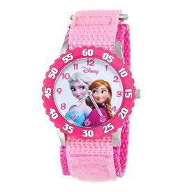 再入荷 アナ雪 Disney Kids ディズニー キッズ 子供用 腕時計 アナと雪の女王 アナ エルサ ピンク W000970 女の子 姪っ子 入園 幼稚園 保育園 4歳 5歳 6歳 プレゼント