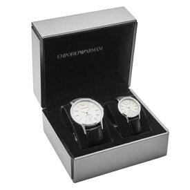 ペア 誕生日 プレゼント 特典BOX付き エンポリオアルマーニ 時計 仕事 通勤 毎日使える いつも一緒 ペアウォッチ ブラック クロコ 革 レザー AR9113