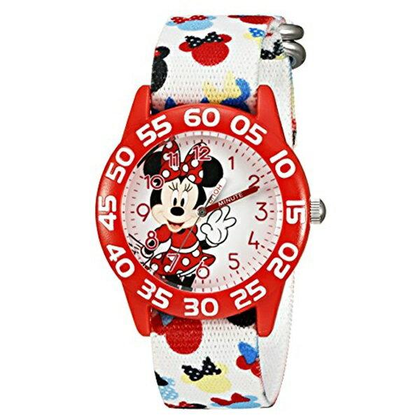 ディズニー キッズ 腕時計 子供用 女の子 ミニーマウス レッド 可愛い キャラクターウォッチ W002374 男の子 女の子 子供用 誕生日 お祝い クリスマスプレゼント ギフト お洒落