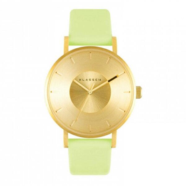 KLASSE14 クラス14 時計 メンズ レディース ユニセックス 腕時計 IRIS 36mm ゴールド ミント 最高級レザー VO16IR017W ビジネス 男性 女性 ユニセックス ブランド 【仕事用】 誕生日 お祝い プレゼント ギフト お洒落